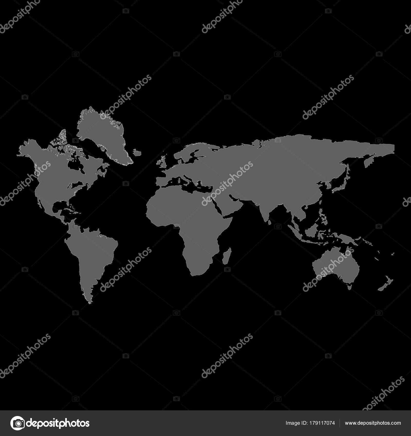 World map raster stock photo viktorijareut 179117074 raster illustration grey blank raster world map isolated on black background photo by viktorijareut gumiabroncs Gallery