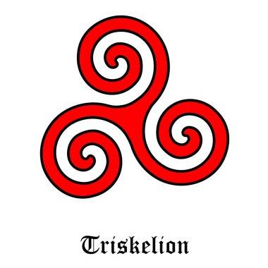 Triskeleon symbol raster