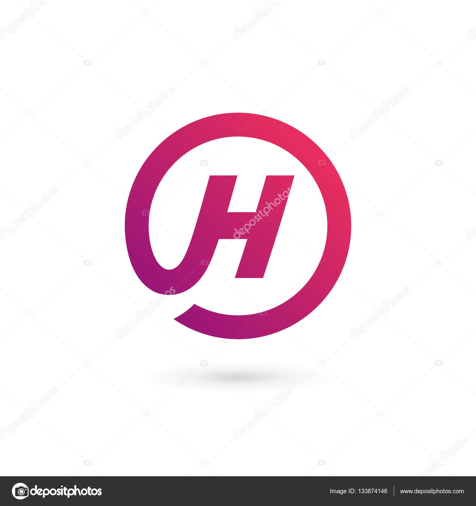 4c13e04b5a07 Letter H logo icon design template elements — Stock Vector © arbuzu ...