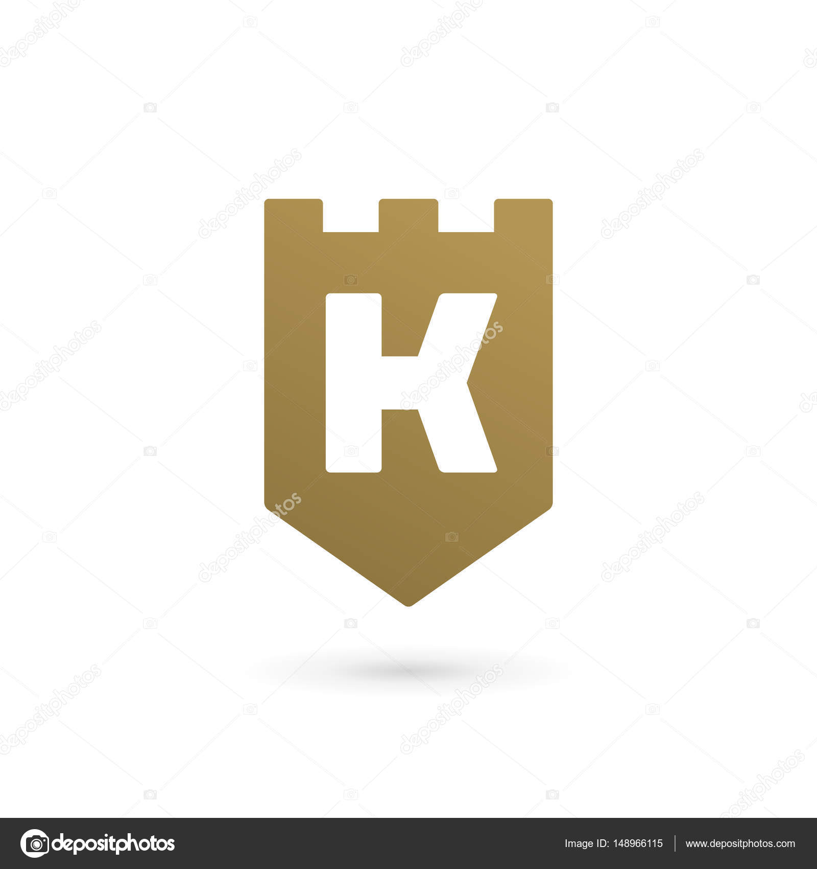 Letter K shield logo icon design template elements — Stock Vector ...