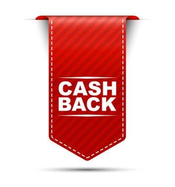 cash back, red vector cash back, banner cash back