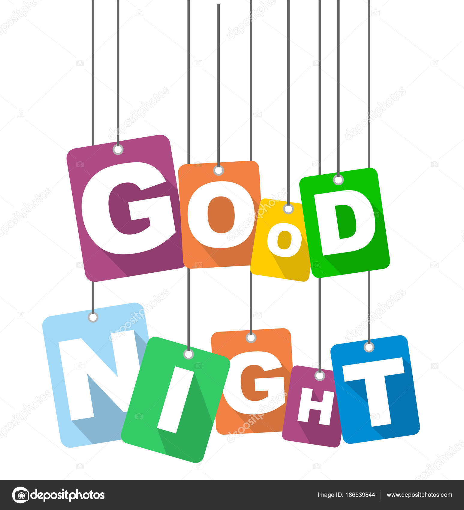 Vector Illustration Background Good Night Stock Vector Houbacze