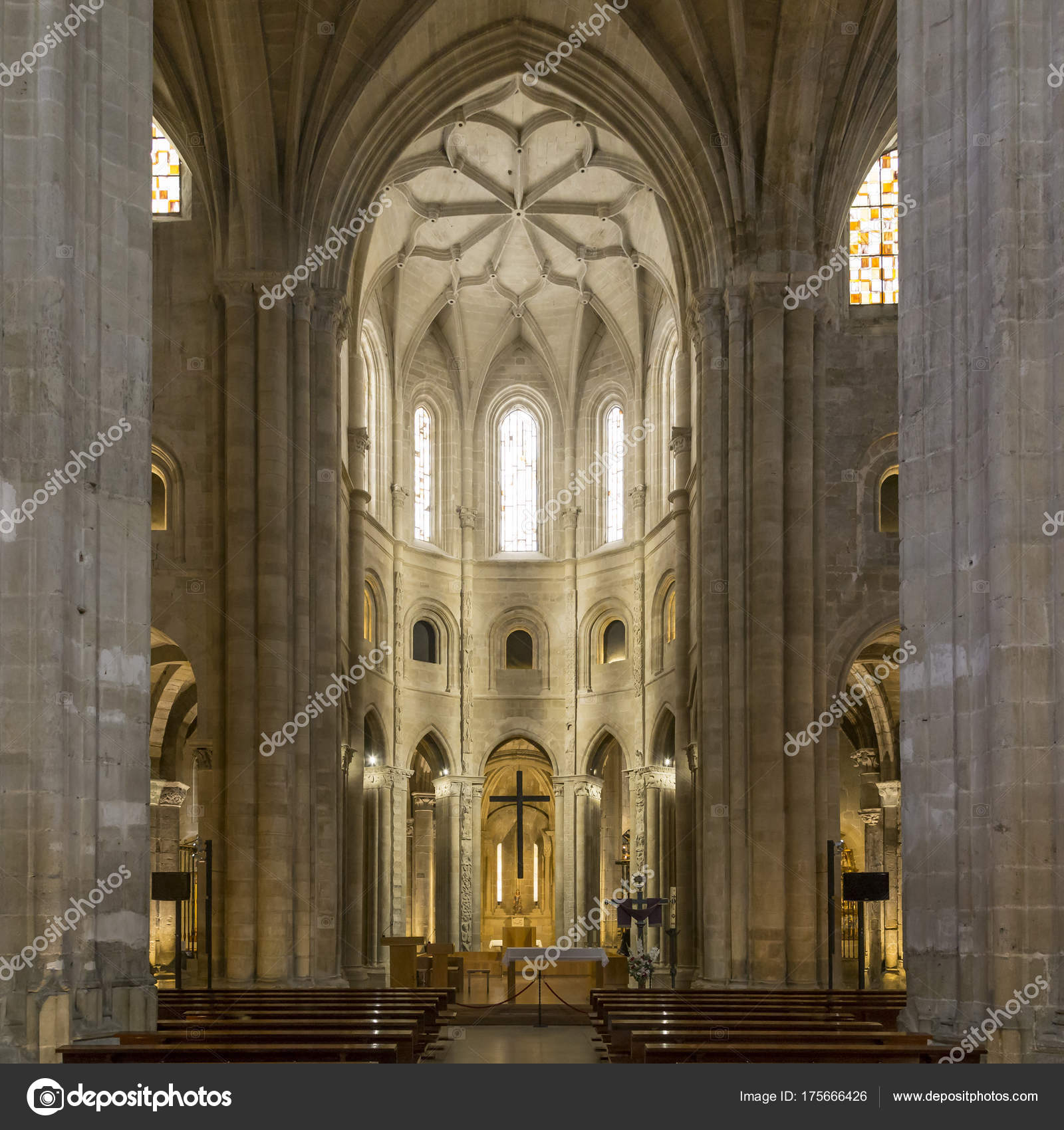 Interior Catedral De Santo Domingo De La Calzada Rioja Espana