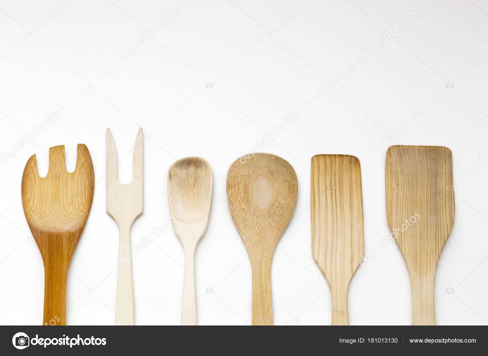 wood kitchen utensils — Stock Photo © benjasanz #181013130