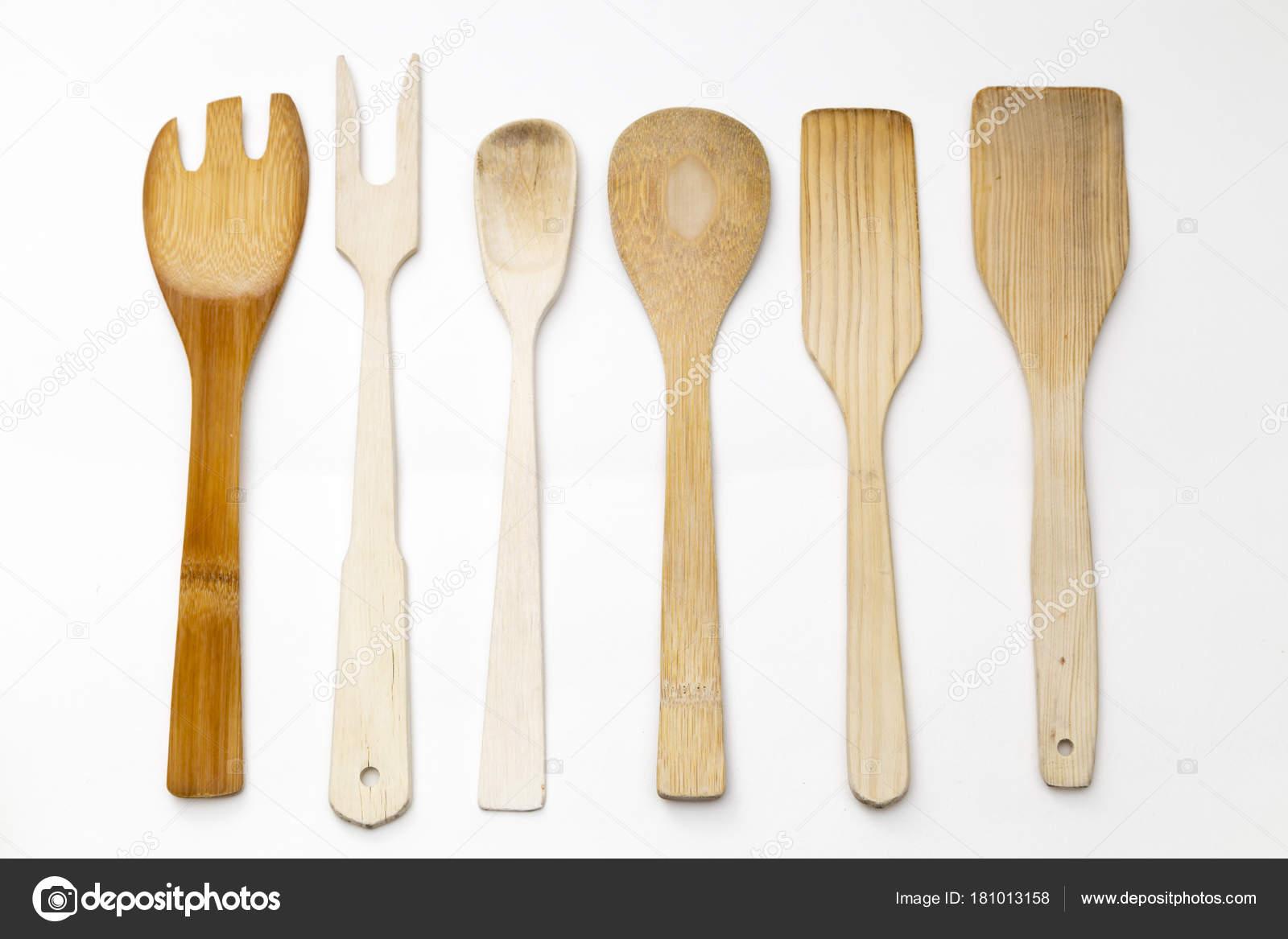 wood kitchen utensils — Stock Photo © benjasanz #181013158