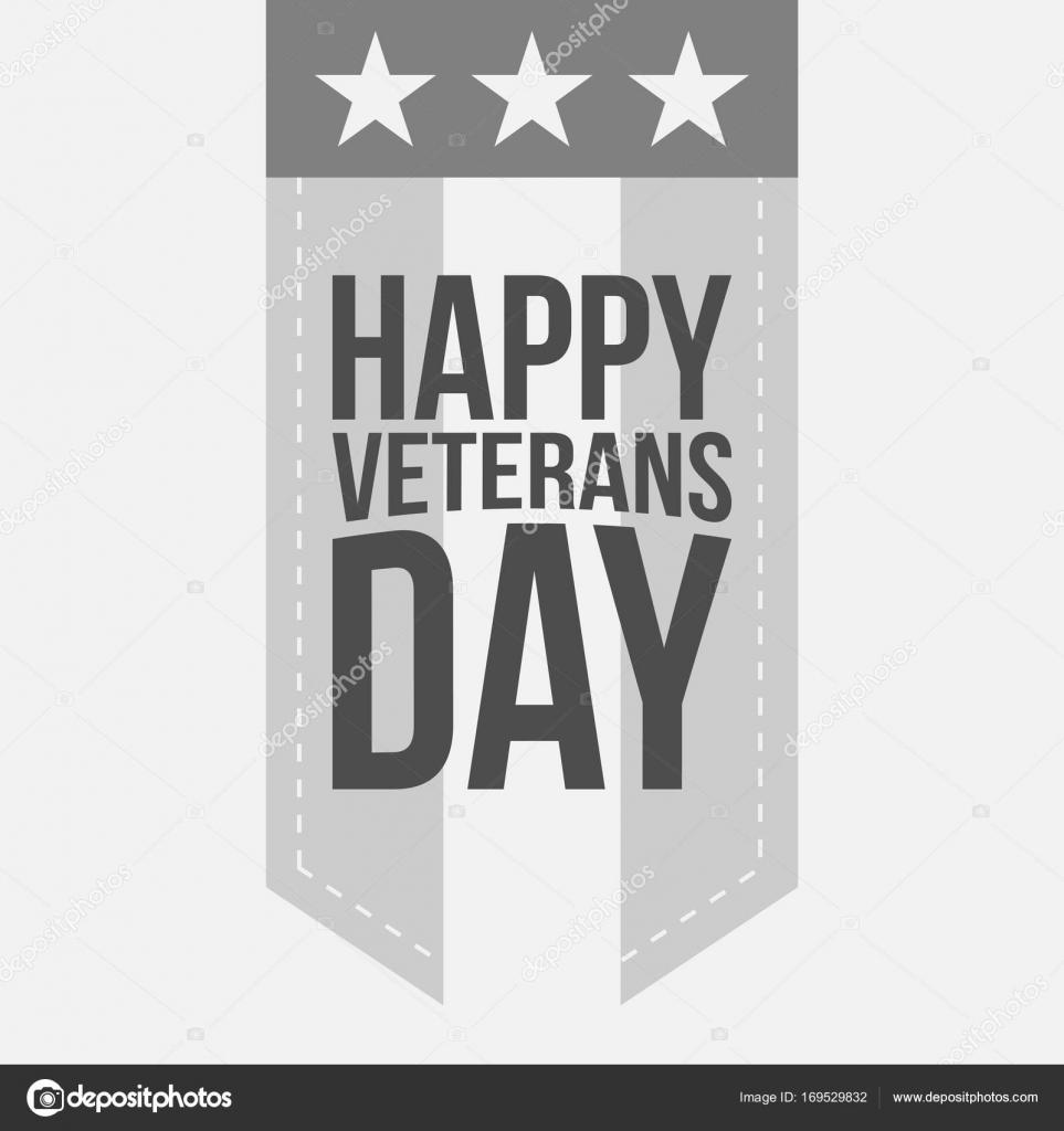 Plantilla de etiqueta con texto de feliz día de los veteranos ...