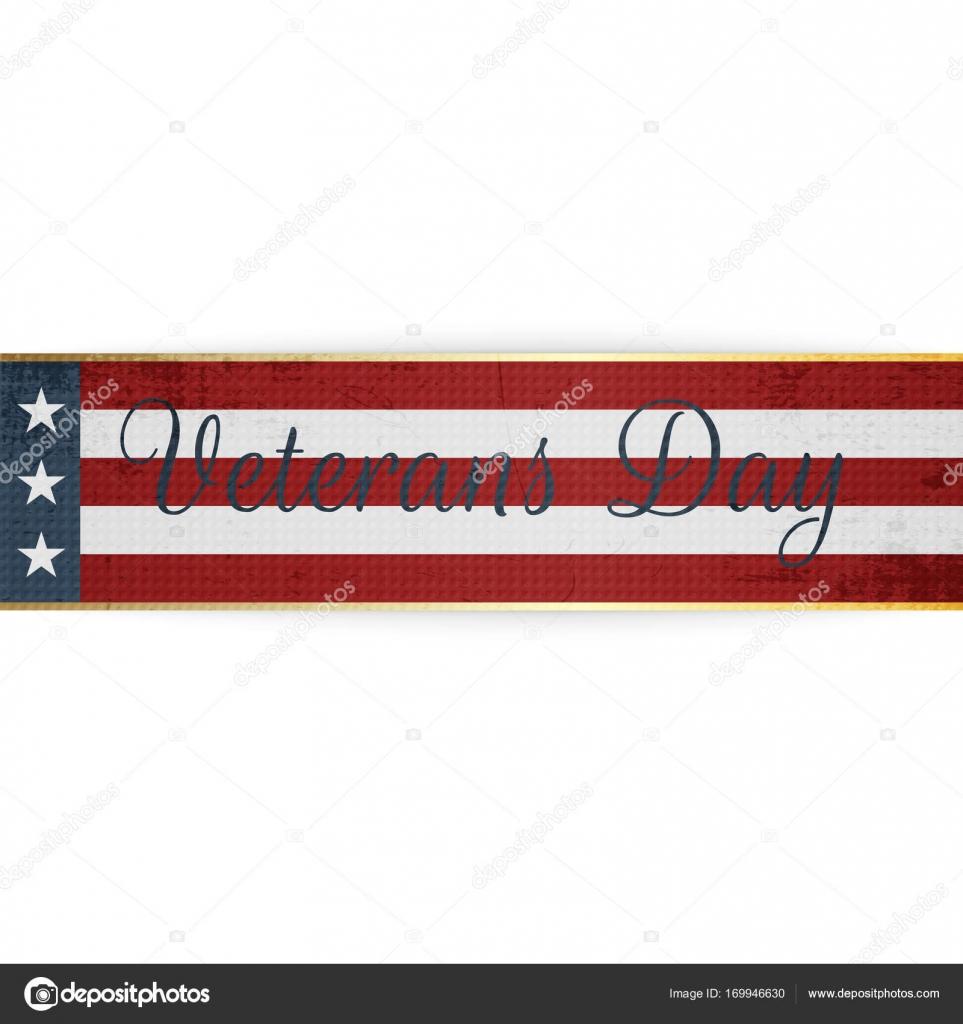 Feliz día de los veteranos nacionales de vector de la cinta — Vector ...