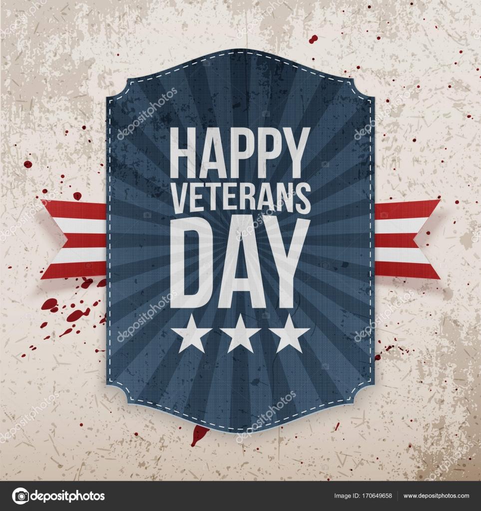 Feliz día de los veteranos de vacaciones Banner — Vector de stock ...