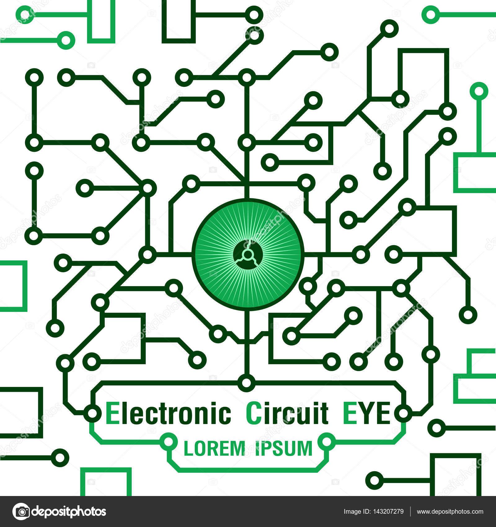 Elektronische Schaltung Symbol Augensymbol. Vektor-illustration ...