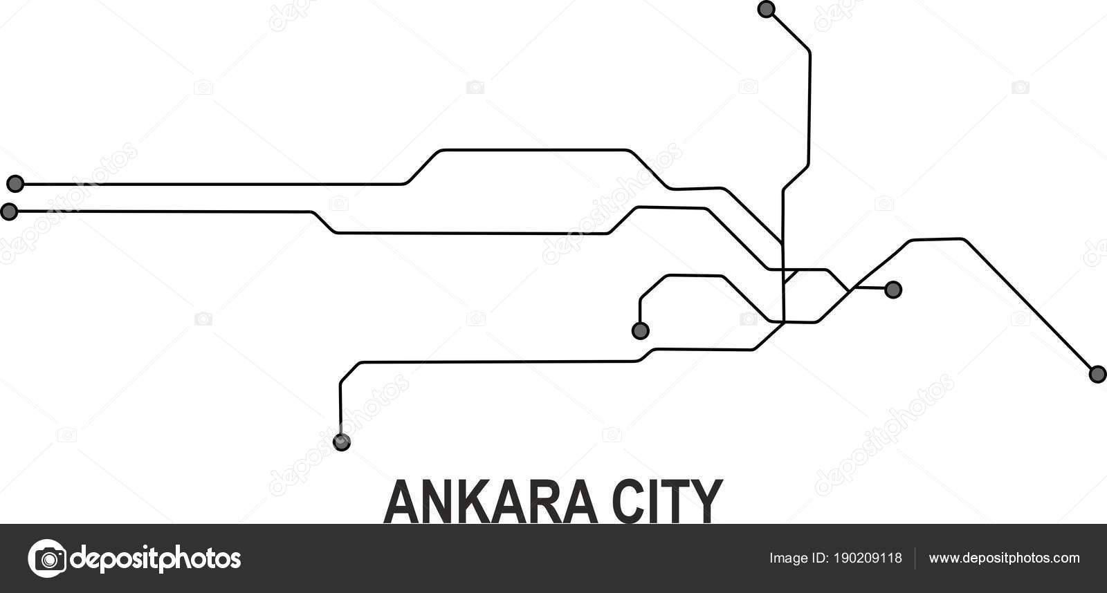 Ankara Subway Map Vector File Format Stock Vector C Fishvector