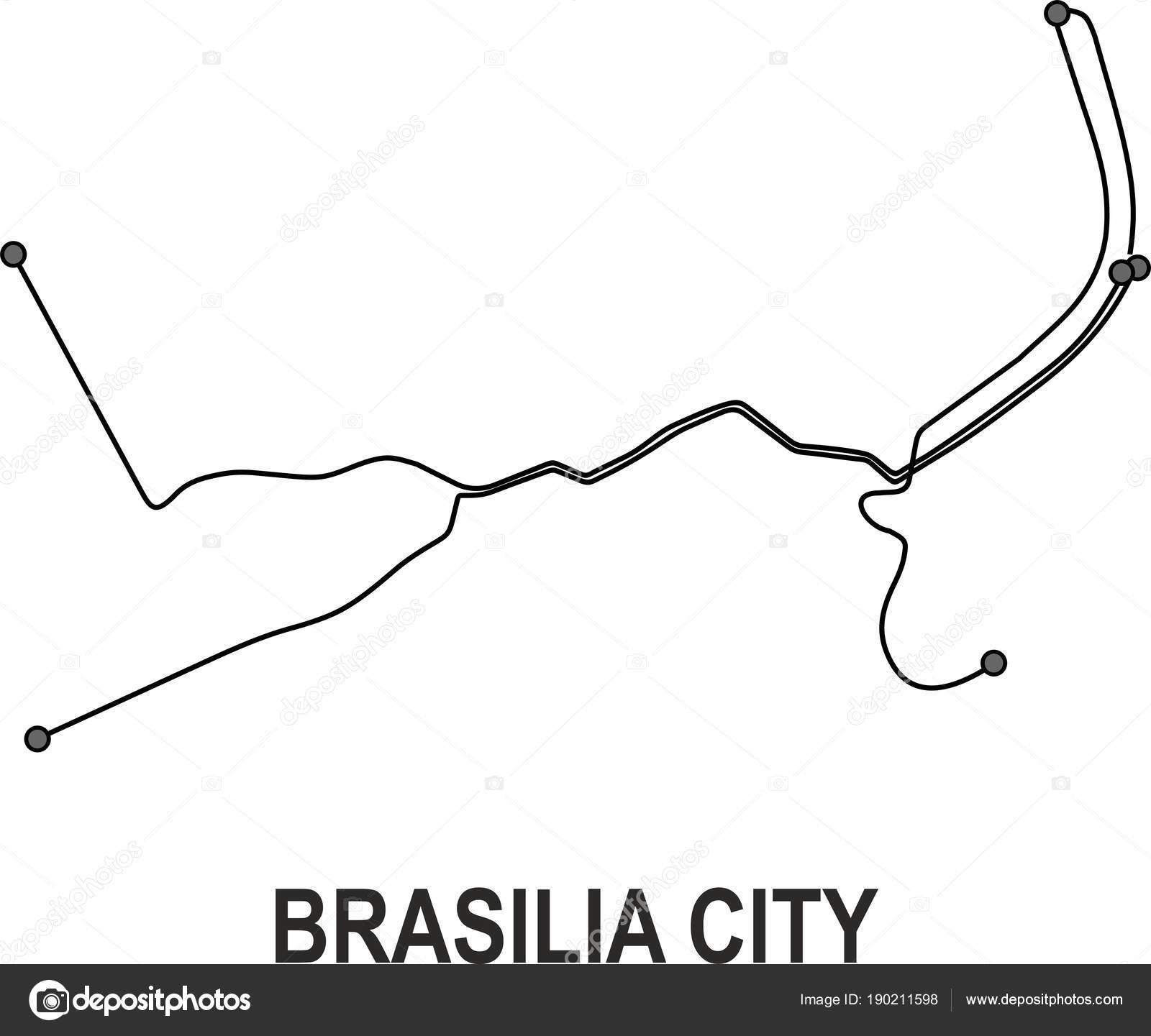 Brasilia Subway Vector Map File Stock Vector Fishvector 190211598