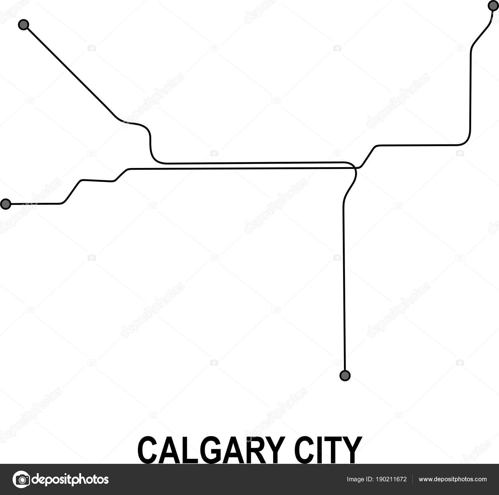 Calgary Subway Map.Calgary Subway Vector Map File Stock Vector C Fishvector 190211672