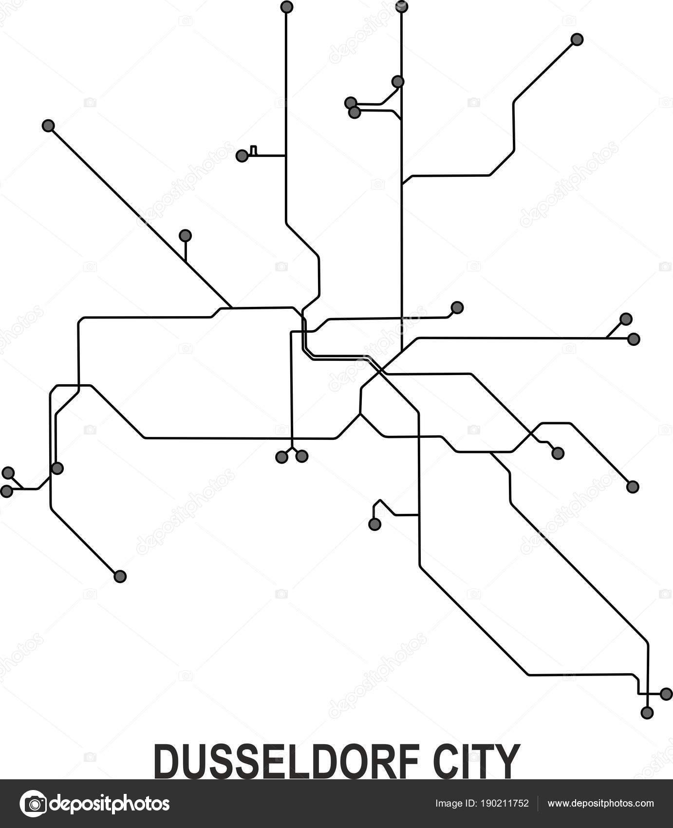 Dusseldorf Subway Map.Duesseldorf Subway Vector Map File Stock Vector C Fishvector