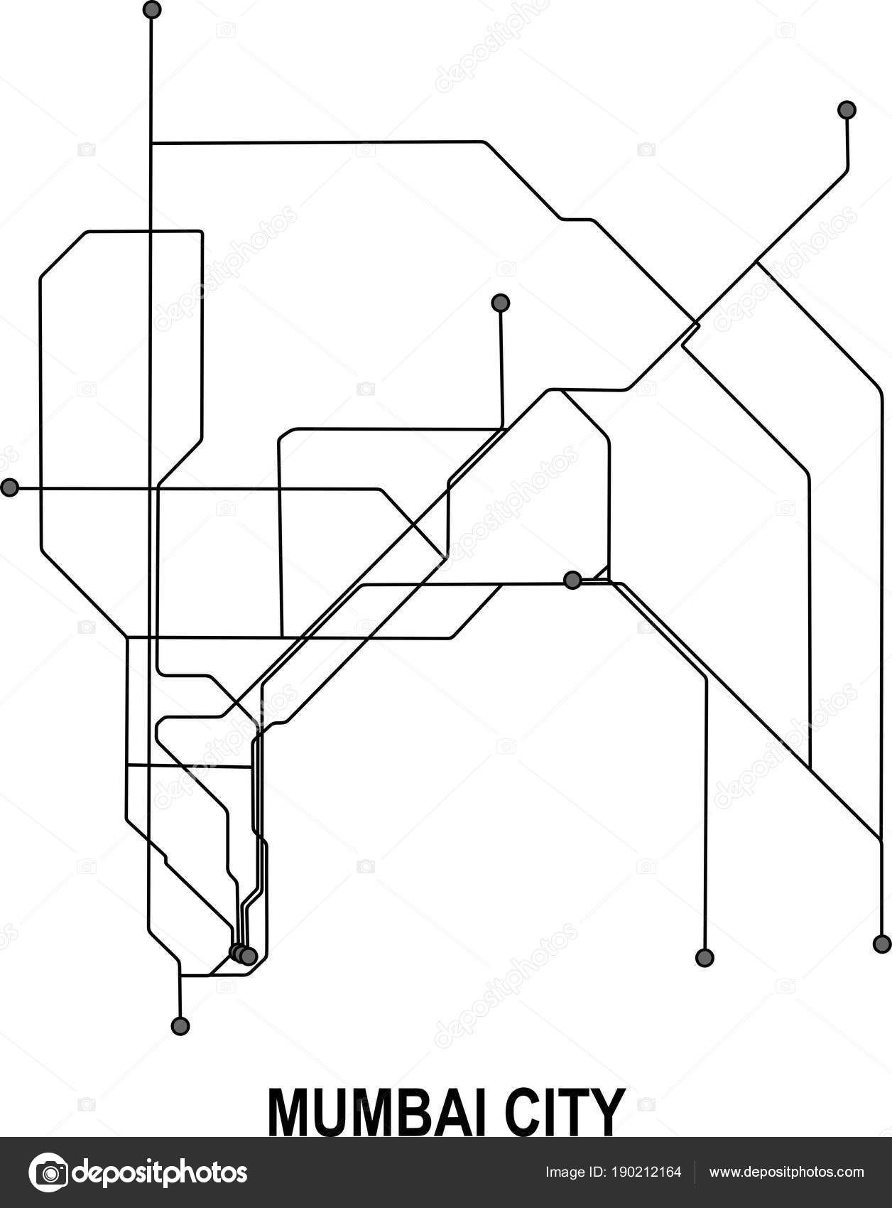 Mumbai Subway Map.Mumbai Subway Vector Map File Stock Vector C Fishvector 190212164