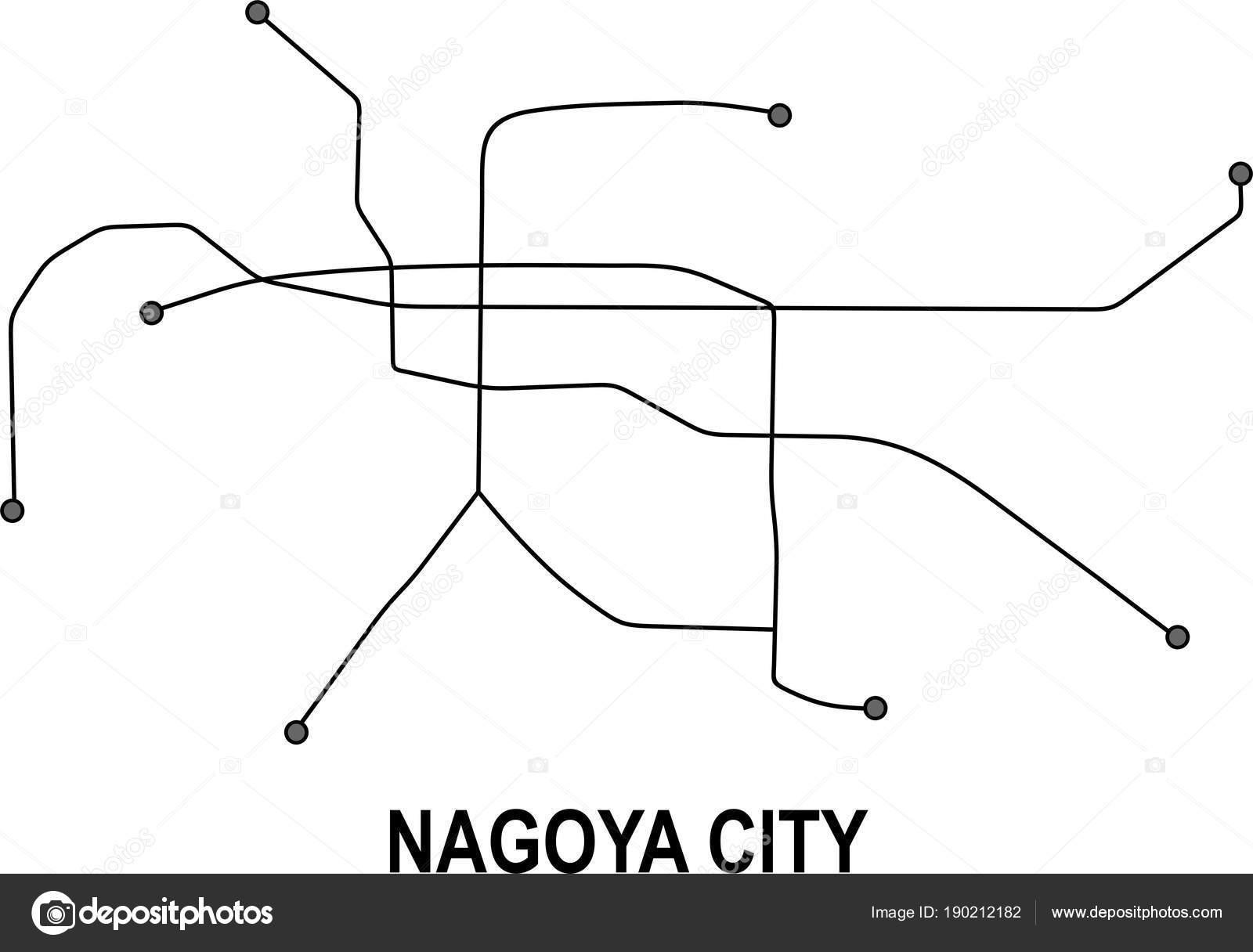 Nagoya Subway Vector Map File Stock Vector Fishvector 190212182