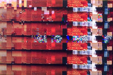 glitches and interference on the digital TV screen