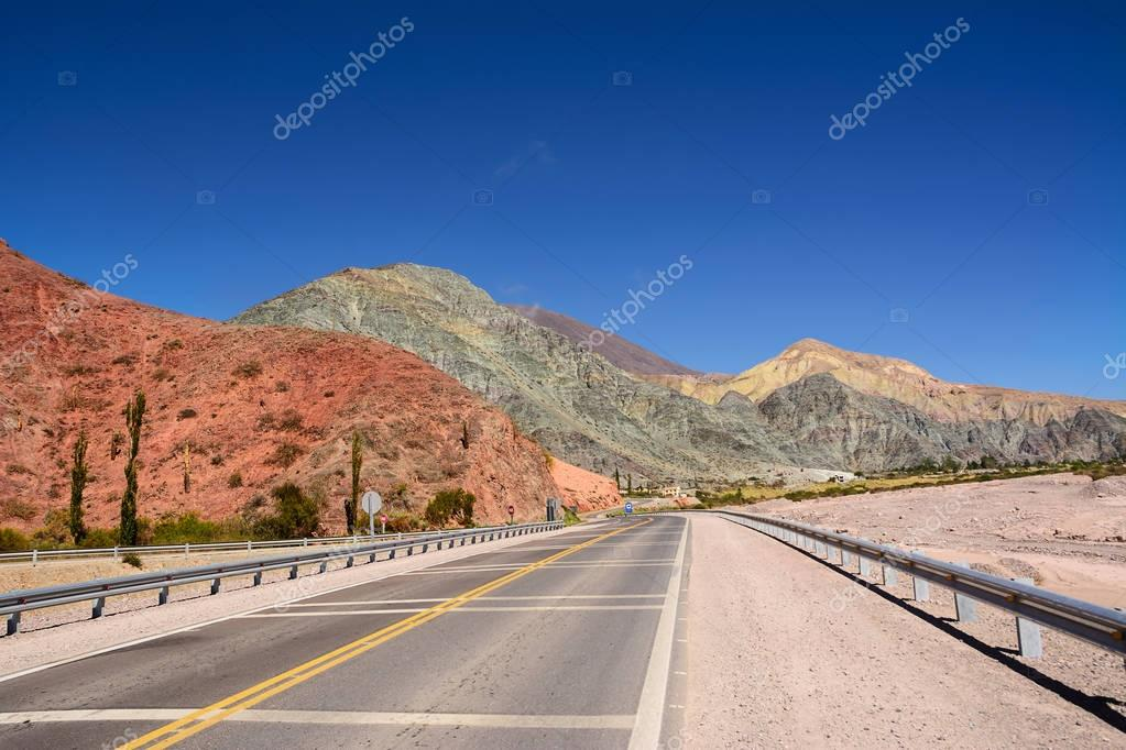 Hill of seven colours in Purmamarca on Ruta 52(Argentina)