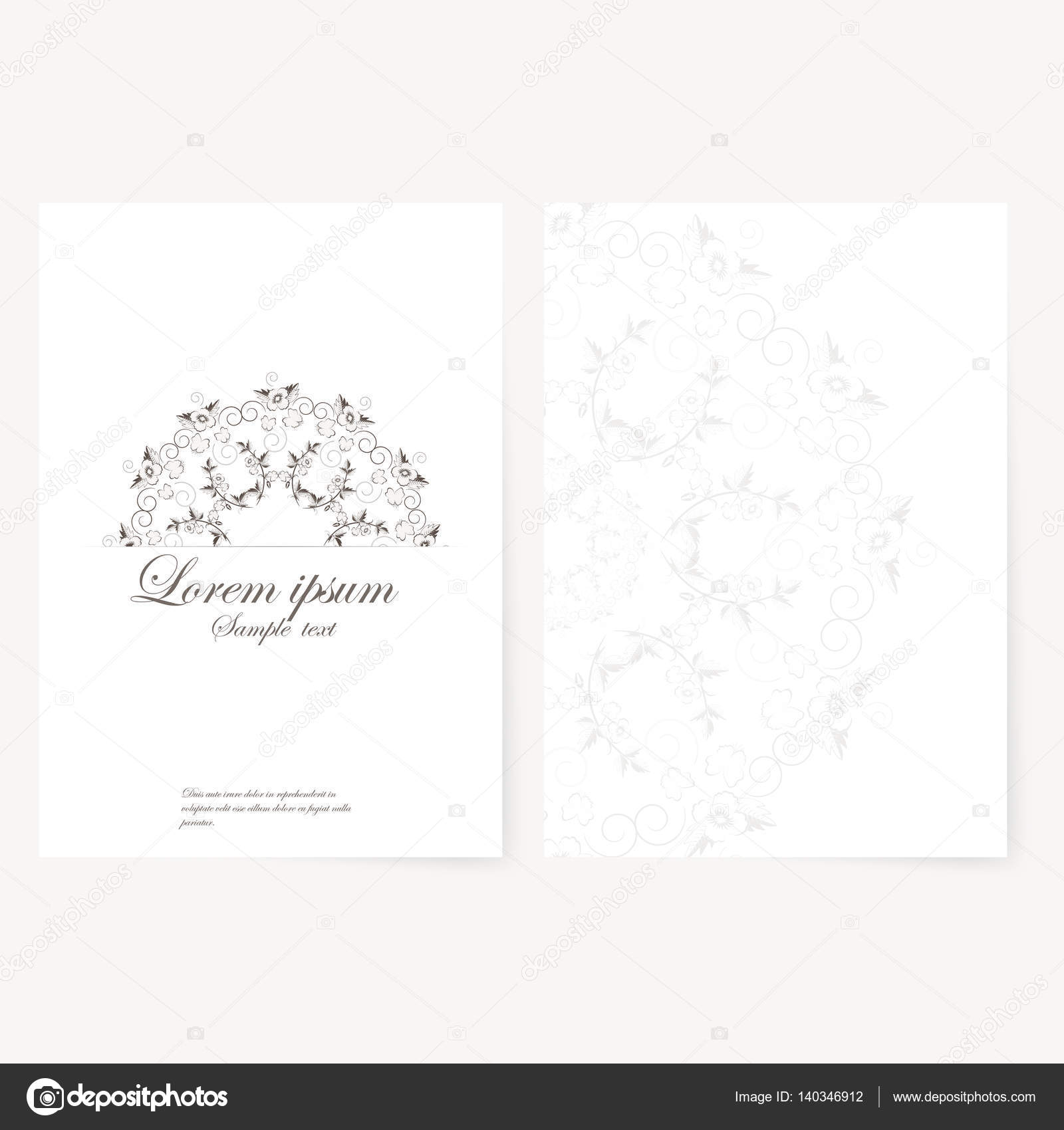 template for folder, business card and invitation — Stock Photo ...