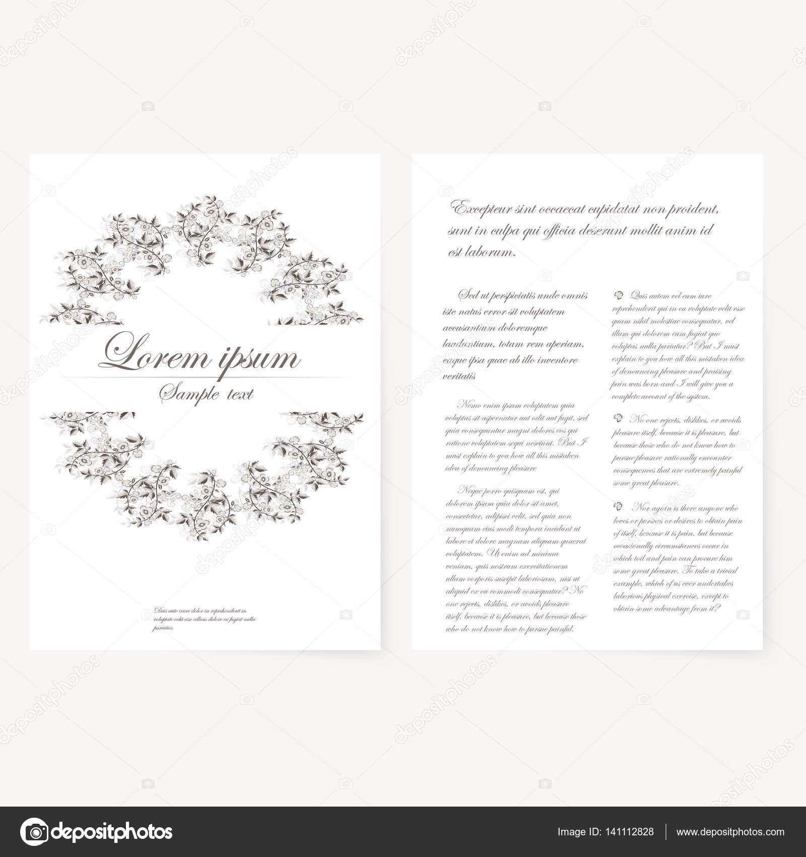 Plantilla Para Carpeta Tarjetas Y El Invitación Foto De