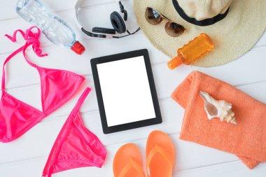 Tablet and sunbathing kit