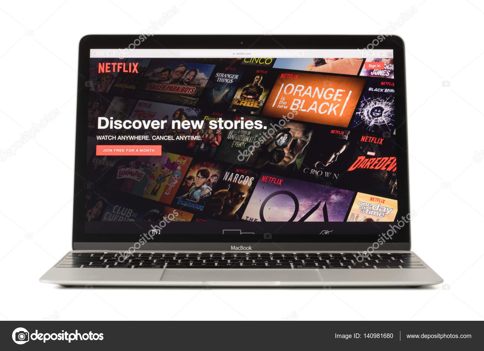 RIGA, LATVIA - February 06, 2017: Netflix,the worlds leading