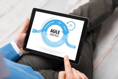 Agile lifecycle graph on tablet computer