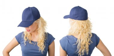 Front and back view of snapback