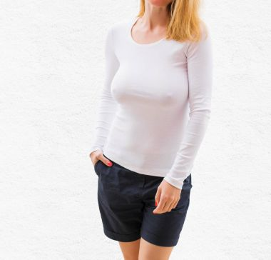 White long sleeve shirt template