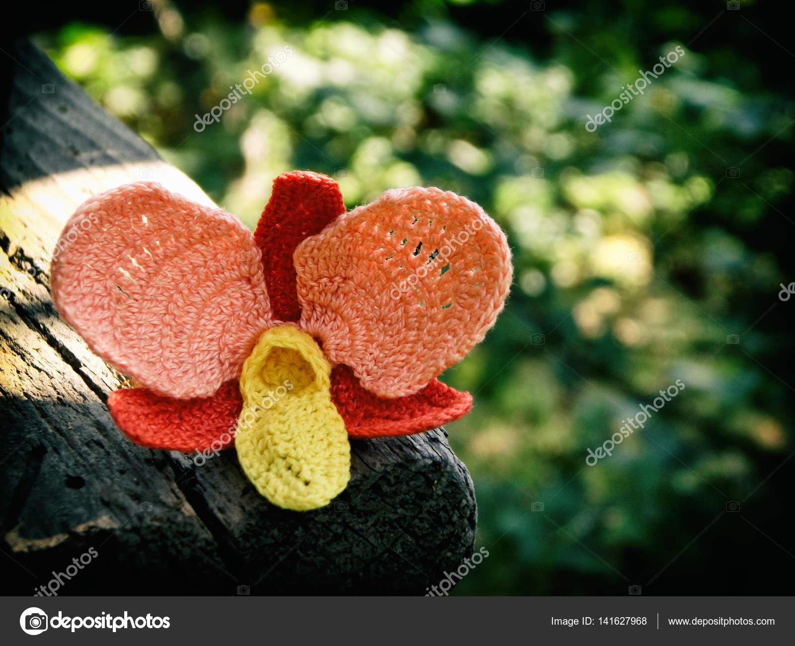 Fleur Au Crochet Orchidee Orange Photographie Oksana S C 141627968