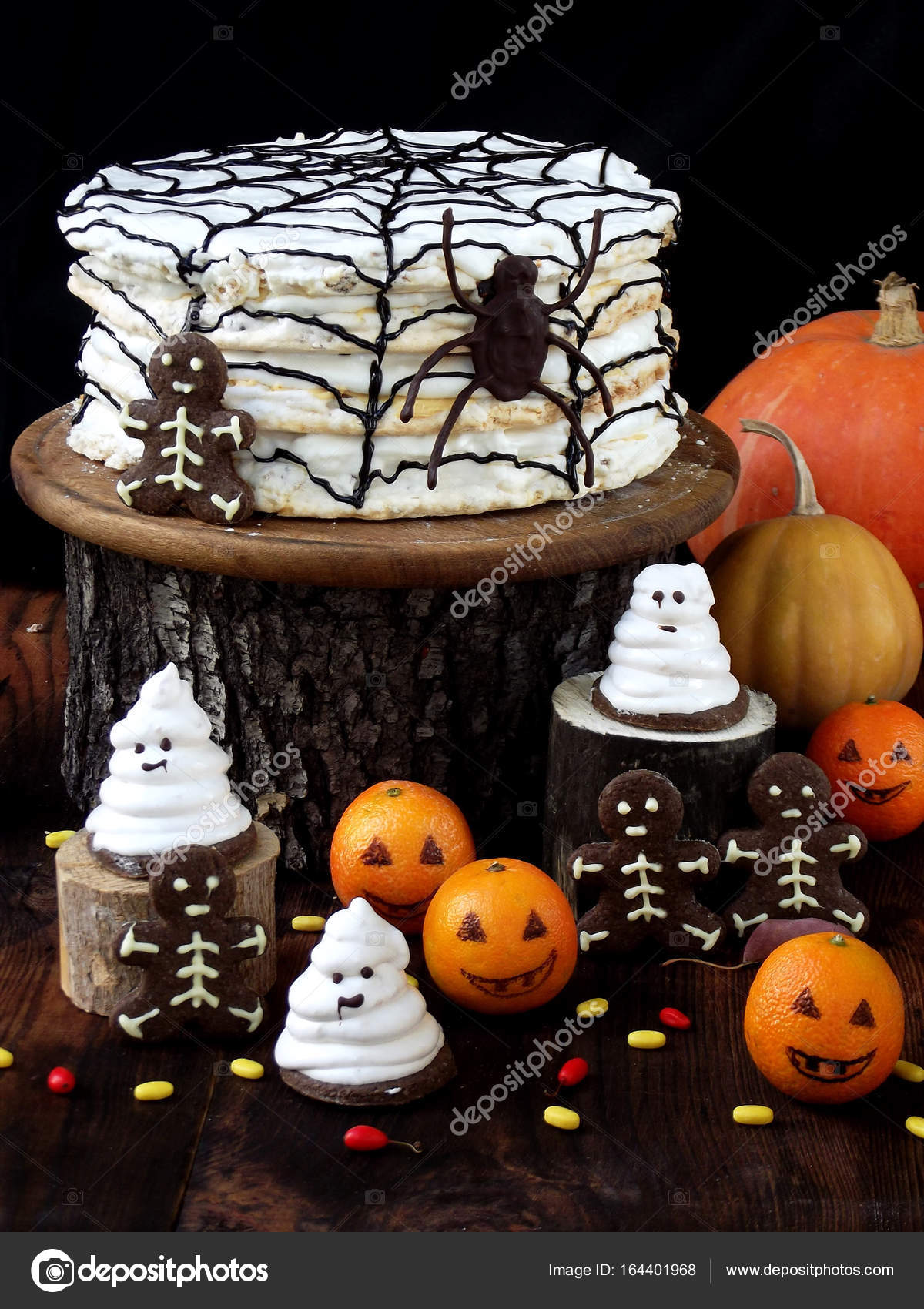 Composition d licieuse dr le pour halloween avec g teau - Image halloween drole ...