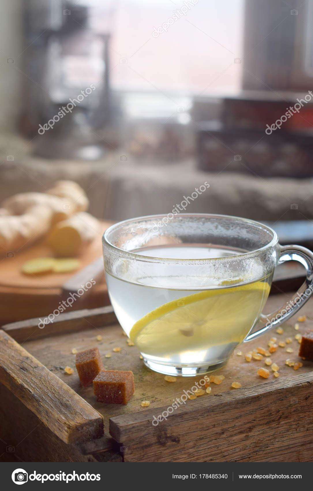 Te de jengibre con limon para la tos