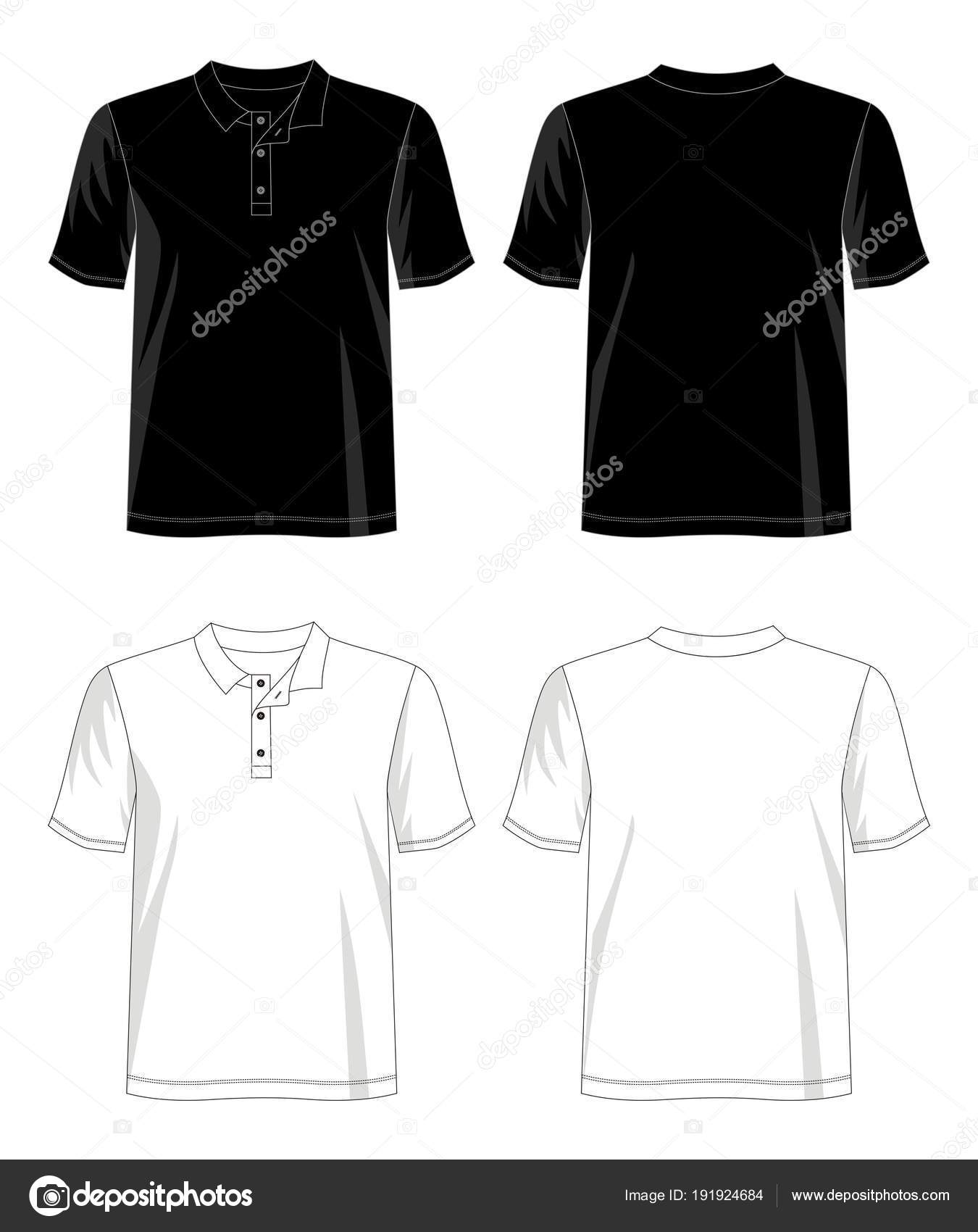 Vector Design Shirt Template Shirt Men Color Black White Red Stock - Design a shirt template