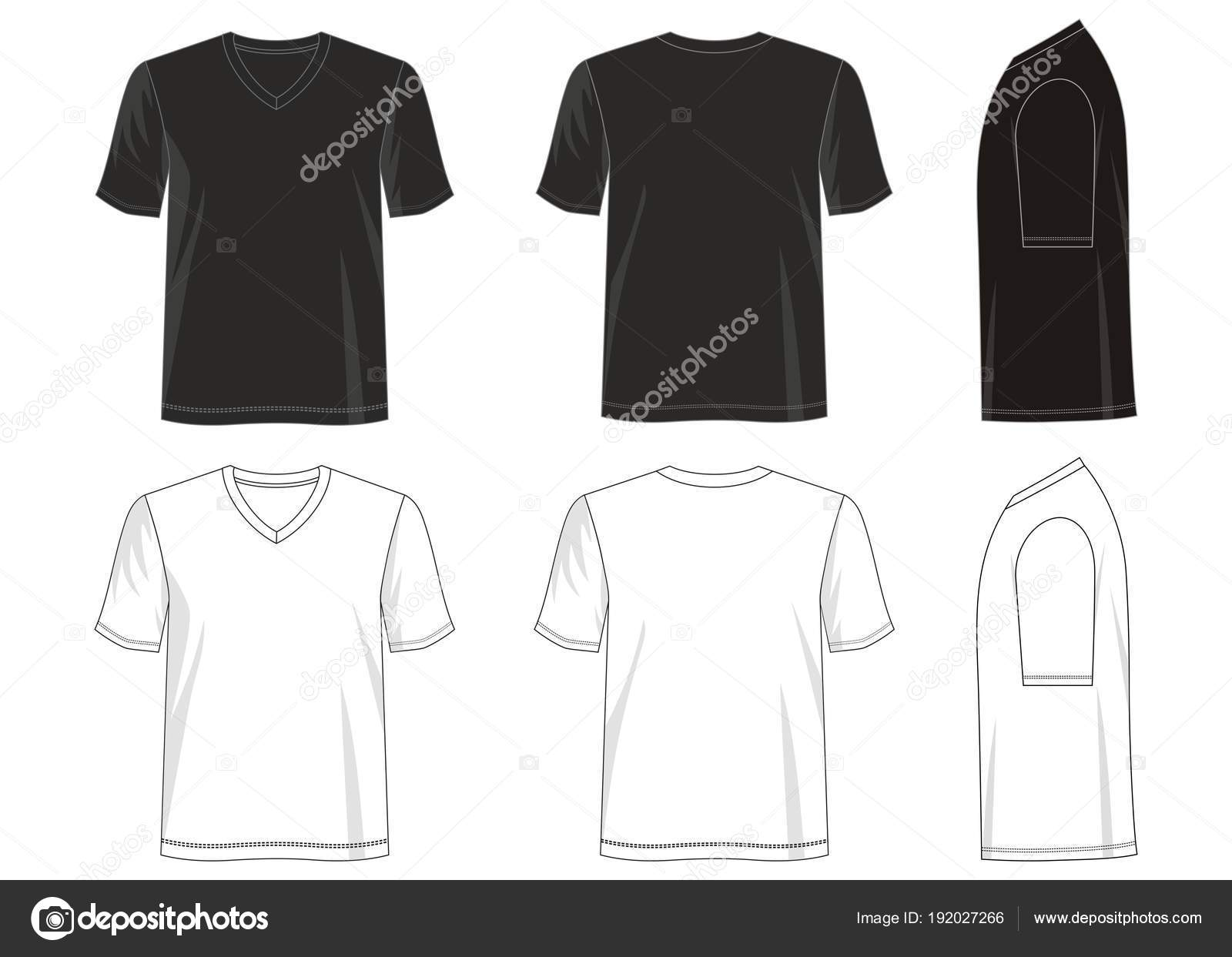Design Vector Shirt Template Collection Men Color Black White - Design a shirt template