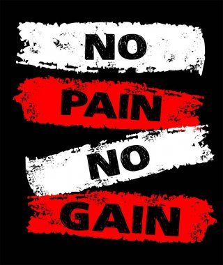 design vector typography no pain no gain for t shirt print men