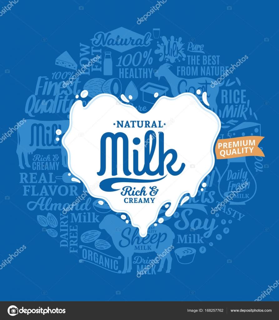 vector milk logo � stock vector 169 counterfeit 168257762