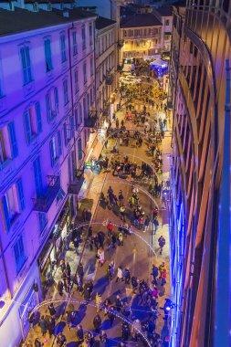 People walking in Sanremo