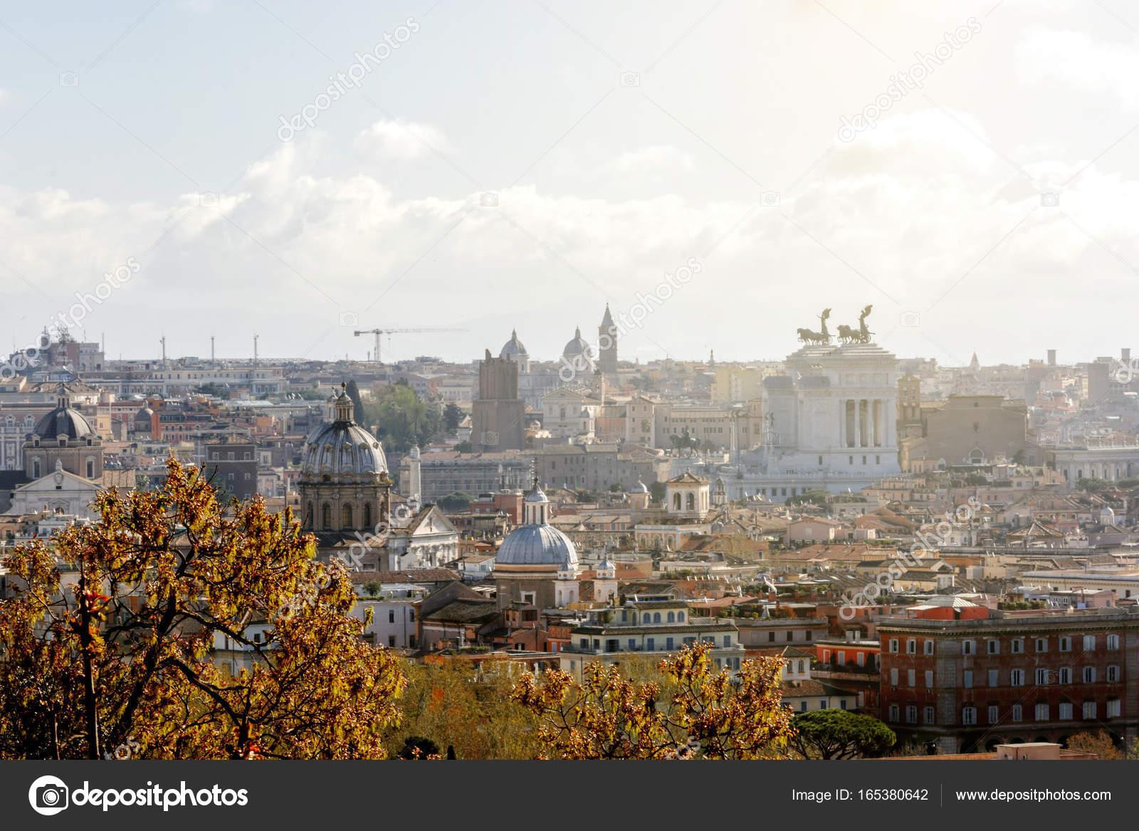 Rome View From Gianicolo Hill Stock Photo Rarrarorro
