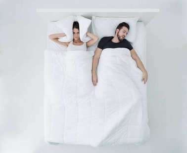 Sleeping with a snorer