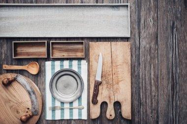 Rustic kitchen worktop