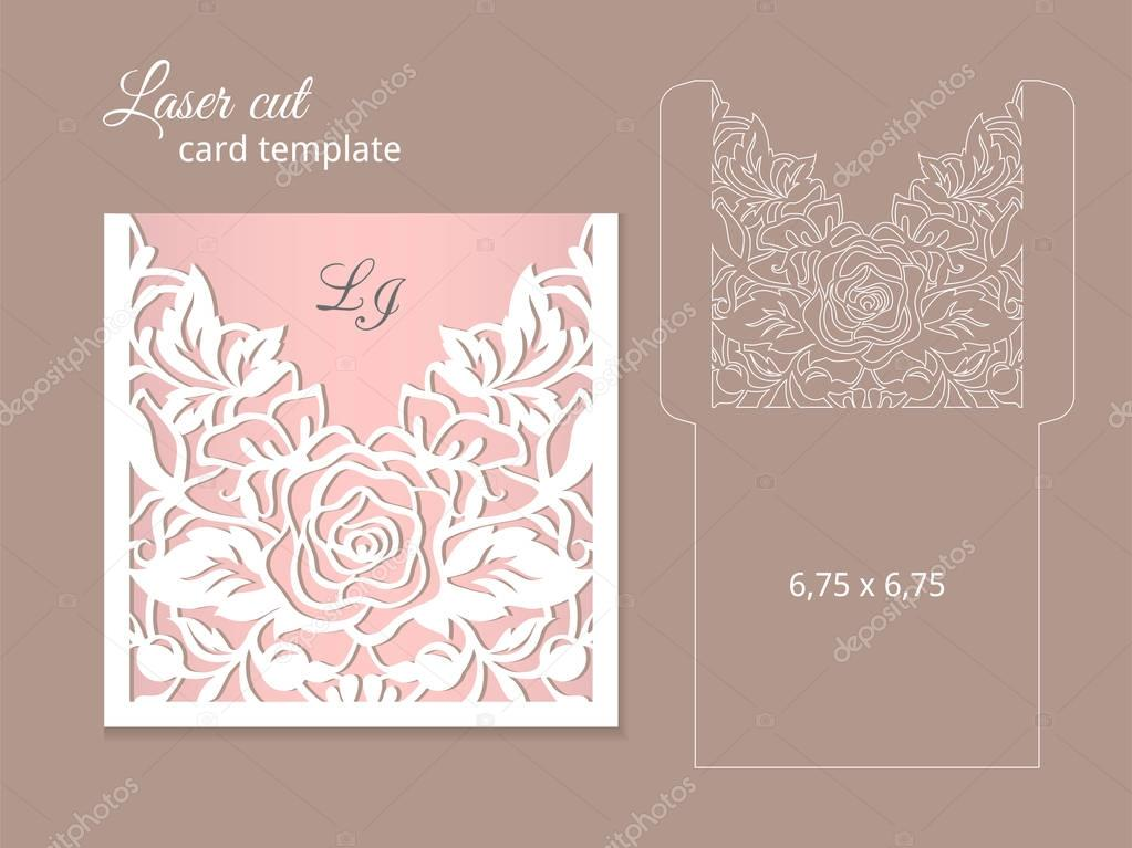 Laser cut invitation card template