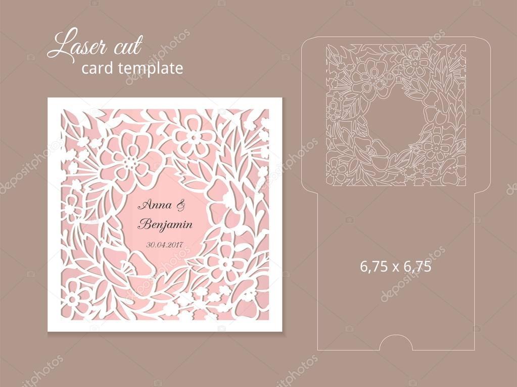 Laser cut invitation card template