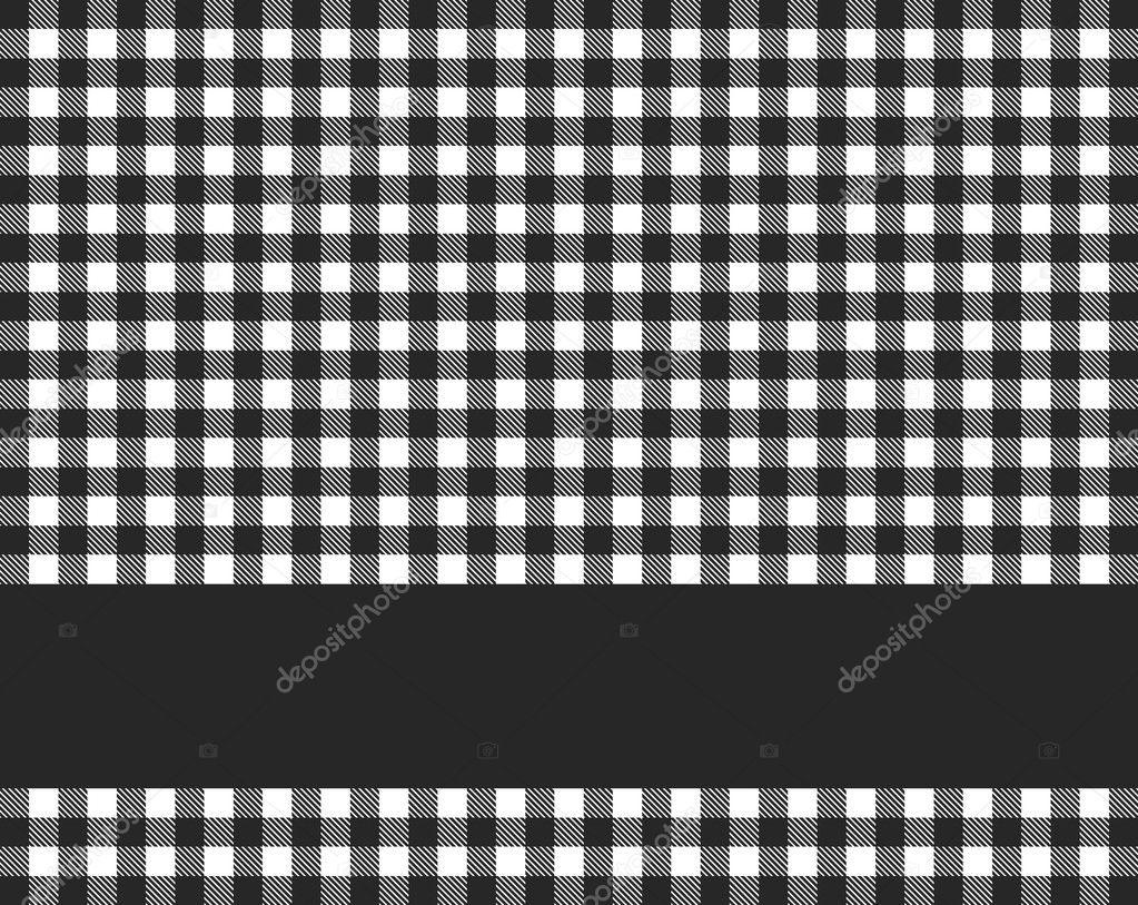 Tablecloth With Stripe Black White U2014 Stock Photo