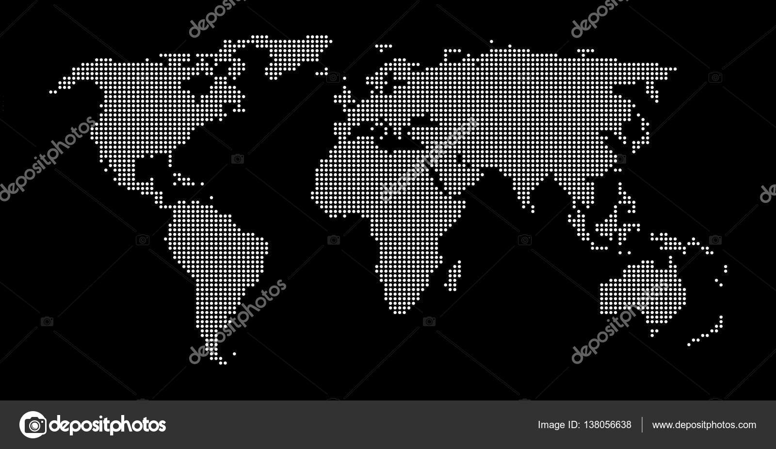Black white dotted world map background stock photo keport modern dotted world map background black and white photo by keport gumiabroncs Gallery