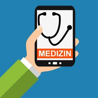 Smartphone: Medicine german - Flat Design