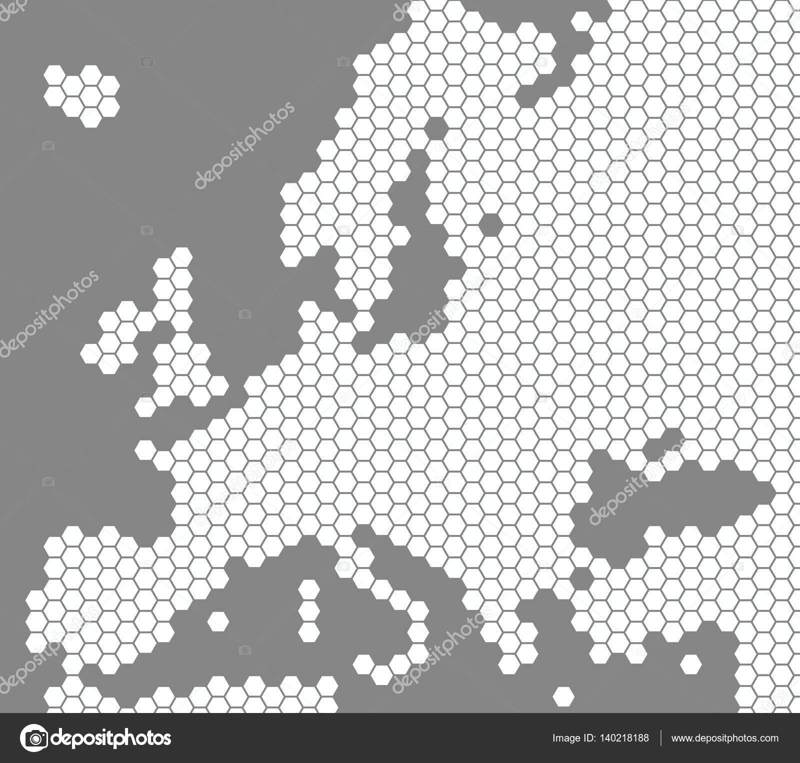 Carte Europe Blanche.Carte Blanche De L Europe Sur Fond Gris Photographie