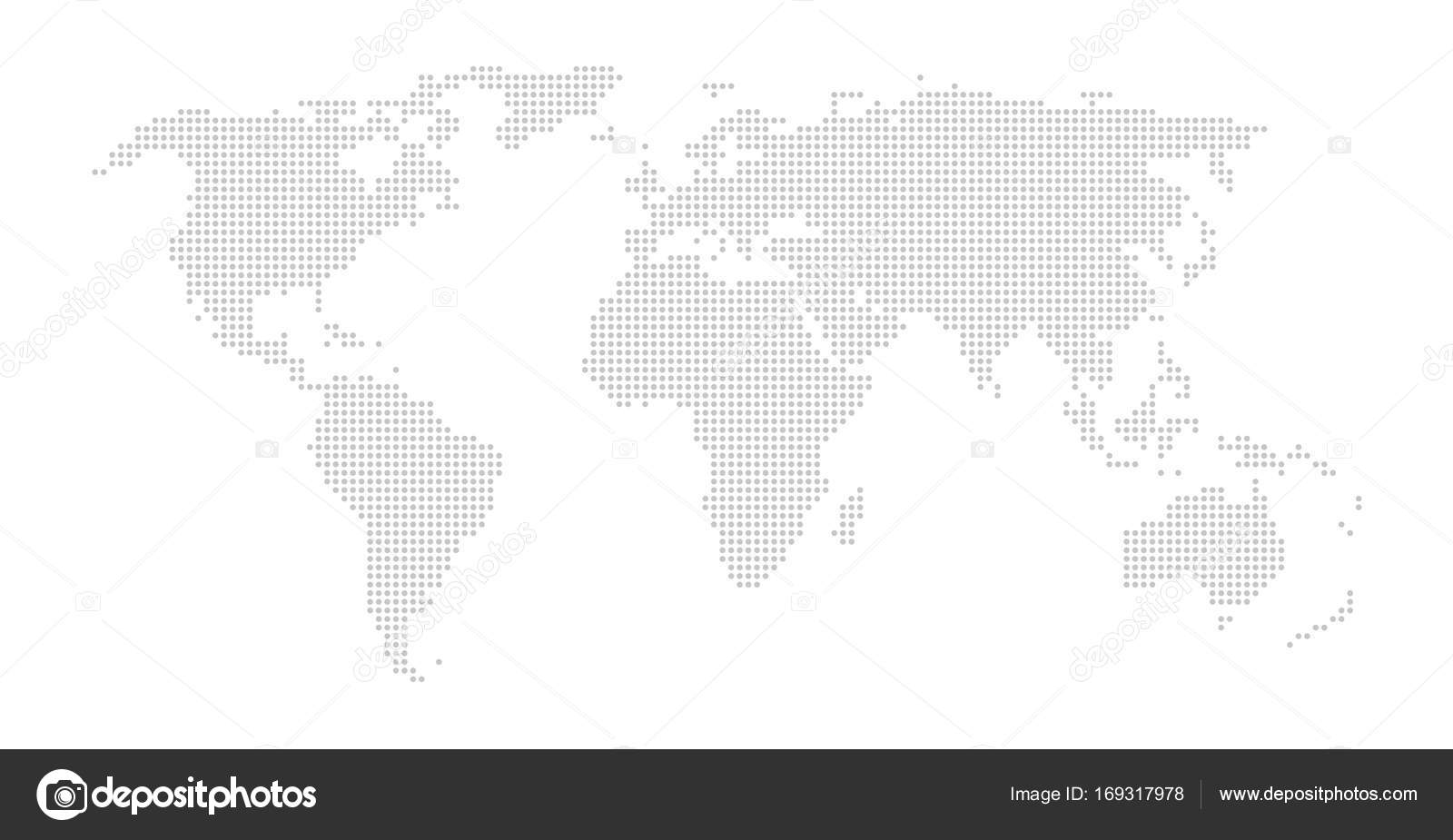 World map with grey dots — Stock Photo © keport #169317978