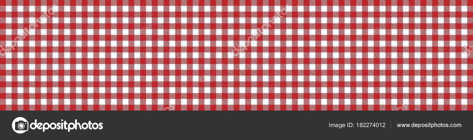 bannière de nappe à carreaux rouge blanc — photographie keport