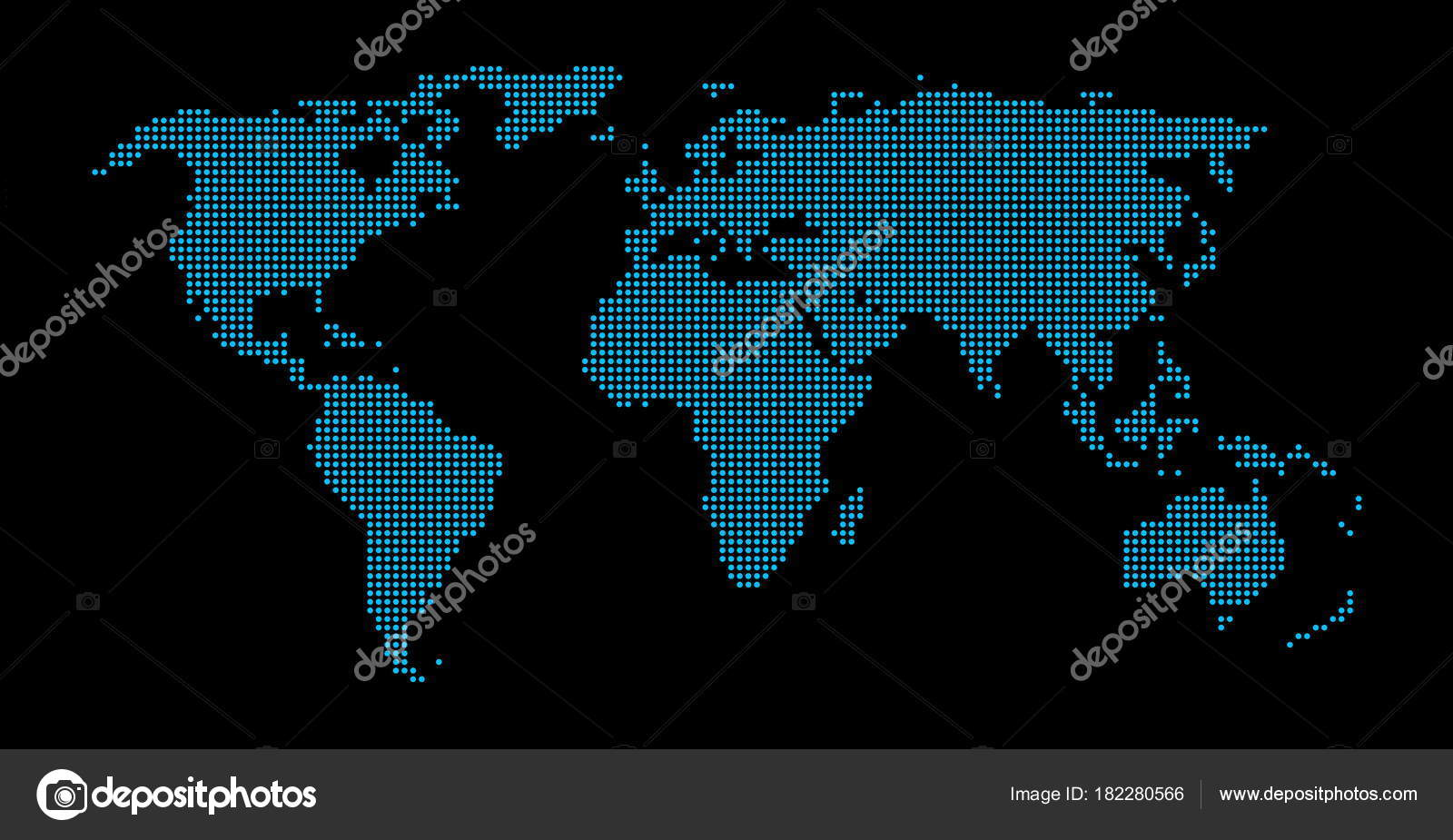 Modern world map black blue stock photo keport 182280566 turquoise black world map with dots photo by keport gumiabroncs Images