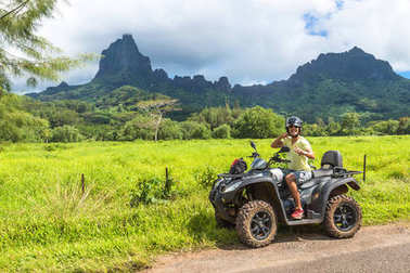 Travel made by me at 03/28/2015 to one of the paradises on Earth the More Island in French Polynesia. The innumerable shades of blue and green are unique in the world and this is one of the most dreamy places for honeymooners. Quad bike tour around