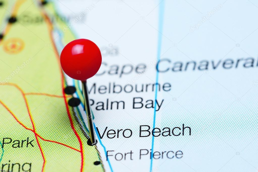Vero Beach En Un Mapa De La Florida Usa Foto De Stock - Mapa de la florida usa